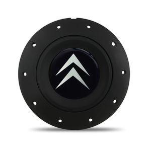 Calota-Centro-Roda-Ferro-Amarok-Citroen-4-Furos-Preta-Fosca-Emblema-Preto-1a