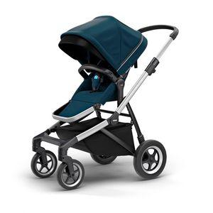 Carrinho-de-Bebe-Thule-Sleek-Azul-Marinho-e-Prata-4-Rodas---Modelo-11000005-01