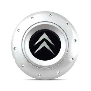 Calota-Centro-Roda-Ferro-Amarok-Citroen-C4-Prata-Emblema-Preto-A