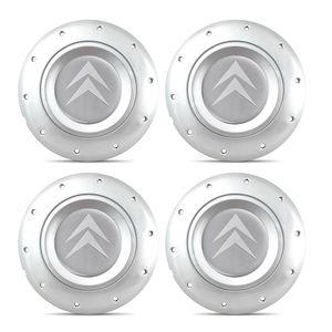 Jogo-4-Calota-Centro-Roda-Ferro-Amarok-Citroen-C3-Prata-Emblema-Prata-A
