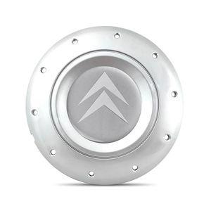 Calota-Centro-Roda-Ferro-Amarok-Citroen-C4-Prata-Emblema-Prata-A
