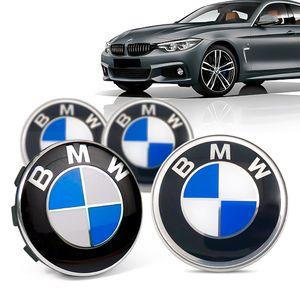 Jogo-4-Calota-Centro-Roda-Original-BMW-Serie-4-2019--Emblema-Azul-A