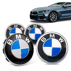 Jogo-4-Calota-Centro-Roda-Original-BMW-Serie-8-2019--Emblema-Azul-A
