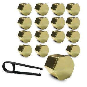 16-Kit-Capa-de-Parafuso-Sextavado-Chave-17-ou-19---16-pecas-Dourada