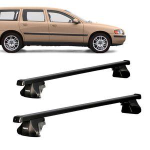 Rack-Teto-Completo-Bagageiro-Thule-Thulesmart-Squarebar-Volvo-V70-Wagon-1997--para-Lon01
