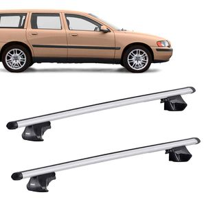 Rack-Teto-Completo-Bagageiro-Thule-Smart-Aerobar-Volvo-V70-Wagon-1997--para-Longarina-701