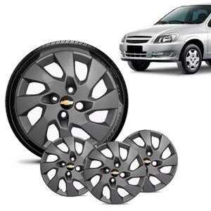 Jogo-4-Calota-Chevrolet-GM-Celta-Aro-13-Grafite-Fosca-Emblema-Preto
