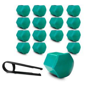 Kit-Capa-de-Parafuso-Sextavado-Chave-17-Mini-Cooper-16-pecas-Verde-A