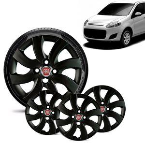 Jogo-4-Calota-Fiat-Palio-Attractive-2012-13-Aro-14-Preta-Brilhante-Emblema-Vermelho