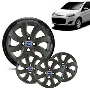 Jogo-4-Calota-Fiat-Palio-Attractive-2012-13-Aro-14-Grafite-Brilhante-Emblema-Azul