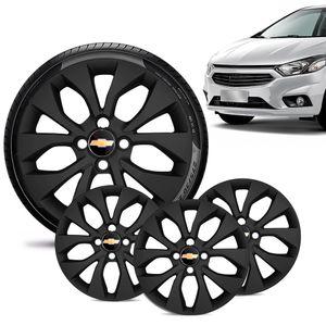 Jogo-4-Calota-Chevrolet-GM-Onix-2017-18-19-Aro-14-Preta-Fosca-Emblema-Preto