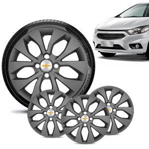 Jogo-4-Calota-Chevrolet-GM-Prisma-2017-18-19-Aro-15-Grafite-Fosca-Emblema-Prata