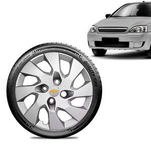 Calota-Chevrolet-GM-Corsa-Wind-Aro-13-Prata-Emblema-Prata