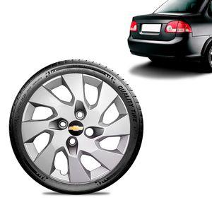 Calota-Chevrolet-GM-Corsa-Sedan-Aro-13-Prata-Emblema-Preto