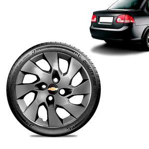 Calota-Chevrolet-GM-Corsa-Sedan-Aro-13-Grafite-Brilhante-Emblema-Preto