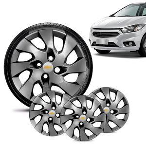 Jogo-4-Calota-Chevrolet-GM-Onix-2013-14-15-16-Aro-14-Grafite-Brilhante-Emblema-Prata