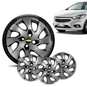 Jogo-4-Calota-Chevrolet-GM-Onix-2013-14-15-16-Aro-14-Grafite-Brilhante-Emblema-Preto