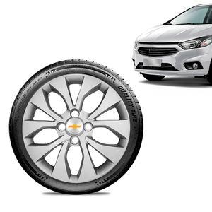 Calota-Chevrolet-GM-Prisma-2017-18-19-Aro-14-Prata-Emblema-Prata