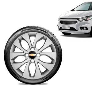 Calota-Chevrolet-GM-Prisma-2017-18-19-Aro-14-Prata-Emblema-Preto