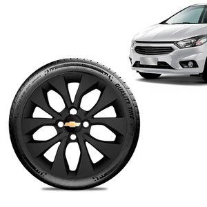 Calota-Chevrolet-GM-Prisma-2017-18-19-Aro-14-Preta-Fosca-Emblema-Preto