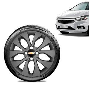 Calota-Chevrolet-GM-Prisma-2017-18-19-Aro-14-Grafite-Fosca-Emblema-Preto