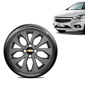 Calota-Chevrolet-GM-Onix-2017-18-19-Aro-15-Grafite-Fosca-Emblema-Preto