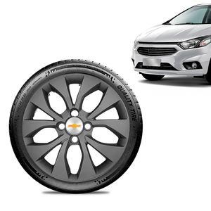 Calota-Chevrolet-GM-Prisma-2017-18-19-Aro-15-Grafite-Fosca-Emblema-Prata