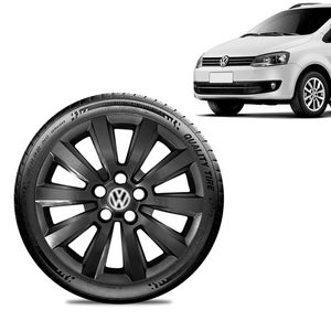Calota-Volkswagen-Vw-Fox-Aro-15-Preta-Brilhante