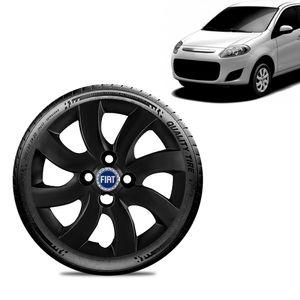 Calota-Fiat-Palio-Attractive-2012-13-Aro-14-Preta-Fosca-Emblema-Azul