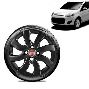 Calota-Fiat-Palio-Attractive-2012-13-Aro-14-Preta-Brilhante-Emblema-Vermelho
