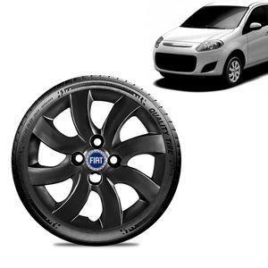 Calota-Fiat-Palio-Attractive-2012-13-Aro-14-Preta-Brilhante-Emblema-Azul