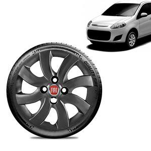 Calota-Fiat-Palio-Attractive-2012-13-Aro-14-Grafite-Brilhante-Emblema-Vermelho
