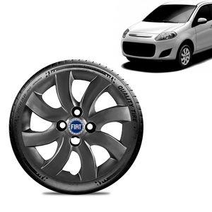 Calota-Fiat-Palio-Attractive-2012-13-Aro-14-Grafite-Brilhante-Emblema-Azul