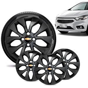 Jogo-4-Calota-Chevrolet-GM-Onix-2017-18-19-Aro-15-Preta-Brilhante-Emblema-Preto