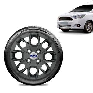 Calota-Ford-Ka---2015-16-17-18-Aro-14-Grafite-Fosca-Emblema-Prata