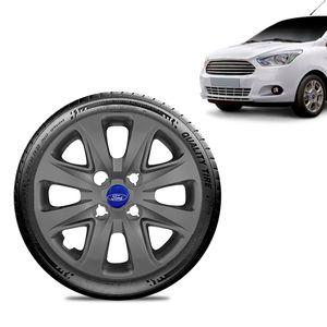 Calota-Ford-Ka-Sedan-2015-16-17-18-Aro-14-Grafite-Fosca-Emblema-Azul