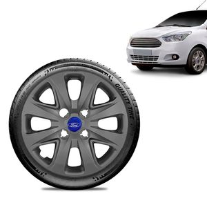 Calota-Ford-Ka---2015-16-17-18-Aro-14-Grafite-Fosca-Emblema-Azul