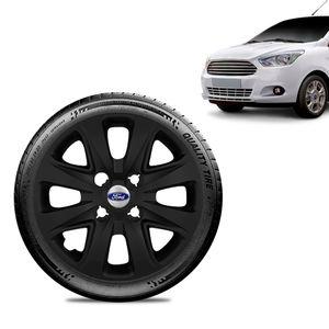 Calota-Ford-Ka---2015-16-17-18-Aro-14-Preta-Fosca-Emblema-Prata