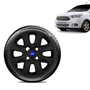 Calota-Ford-Ka-Sedan-2015-16-17-18-Aro-14-Preta-Fosca-Emblema-Azul