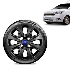 Calota-Ford-Ka-Sedan-2015-16-17-18-Aro-14-Preta-Brilhante-Emblema-Azul