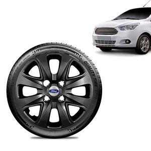 Calota-Ford-Ka-Sedan-2015-16-17-18-Aro-14-Preta-Brilhante-Emblema-Prata