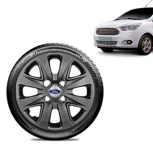 Calota-Ford-Ka---2015-16-17-18-Aro-14-Grafite-Brilhante-Emblema-Prata