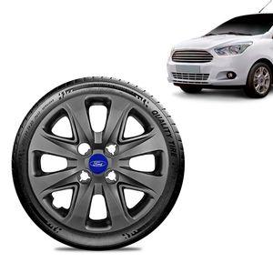 Calota-Ford-Ka---2015-16-17-18-Aro-14-Grafite-Brilhante-Emblema-Azul