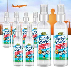 Kit-8-Alcool-Etilico-70--Viagem-Spray-180ml-Autoshine-A