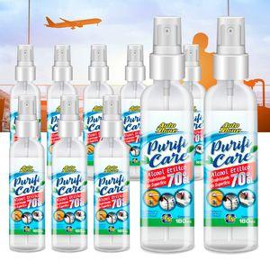 Kit-10-Alcool-Etilico-70--Viagem-Spray-180ml-Autoshine-A