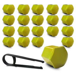 Kit-Capa-de-Parafuso-Sextavado-Chave-17-Mini-Cooper-20-pecas-Amarela-A