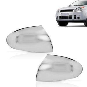 Kit-Par-Aplique-Capa-Retrovisor-Cromado-Ford-Fiesta-2006-07-08-09-10