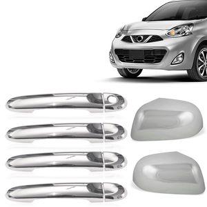 Kit-Capa-Macaneta-e-Retrovisor-Cromado-Nissan-March-2014-15-16-01