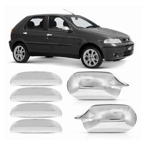 Kit-Capa-Macaneta-e-Retrovisor-Cromado-Fiat-Palio-2000-01-02-03-04---4-Portas-01
