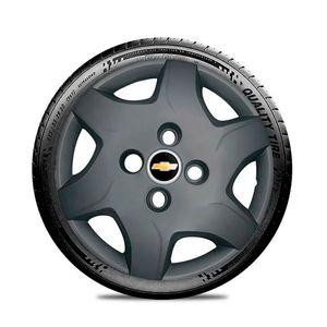 Calota-GM-Celta-Corsa-Onix-Prisma-Classic-Montana-Cobalt-Kadett-Monza-Astra-Chevelle-Chevette-Ipanema-Meriva-Sonic-Spin-Vectra-Aro-13-Grafite-Fosco-Emblema-Preto